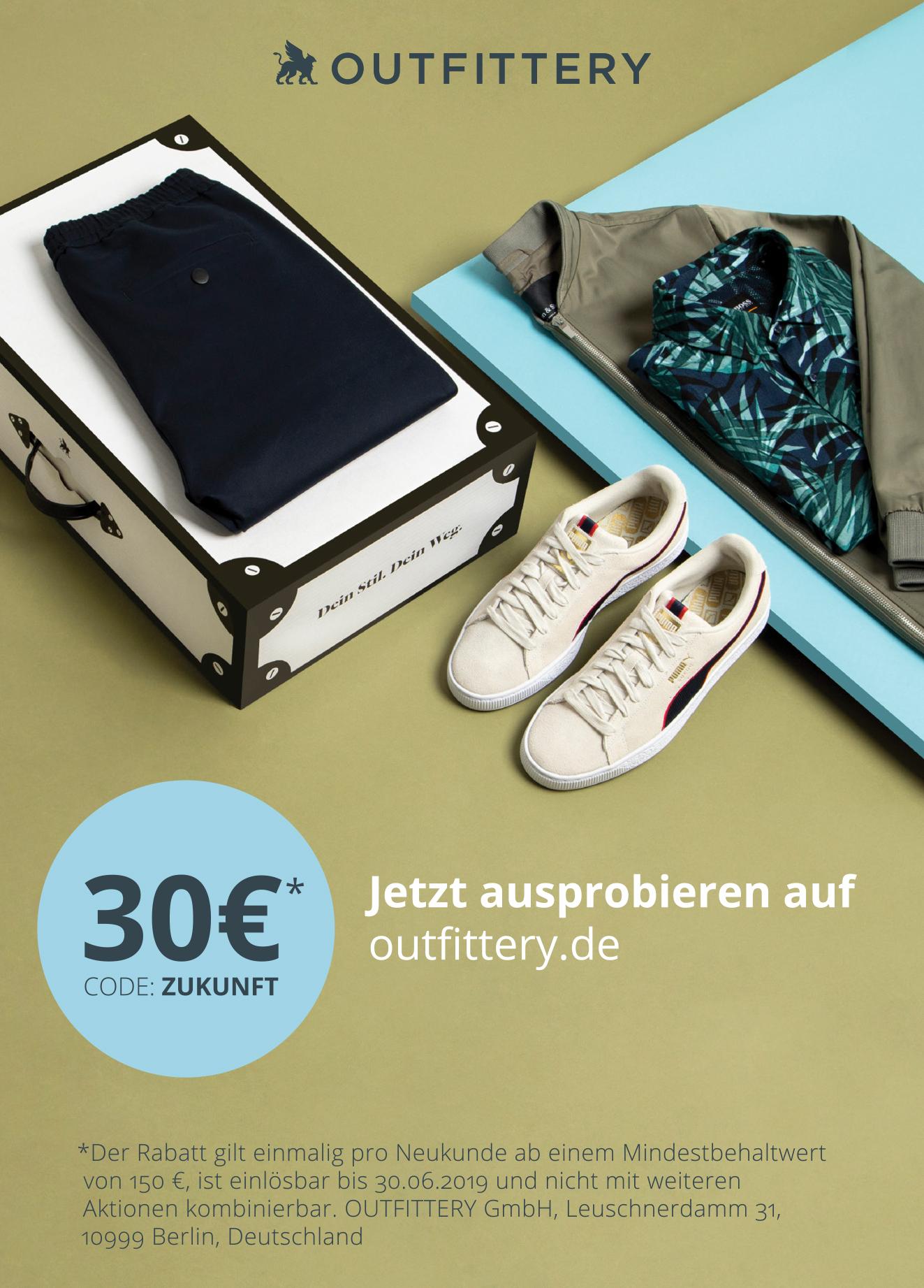 Anzeige: Outfittery: 30 Eur-Rabatt